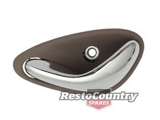 Holden Commodore NEW Inner Door Handle LEFT Rear TAUPE -Chrome VT VX VY VZ WH WL