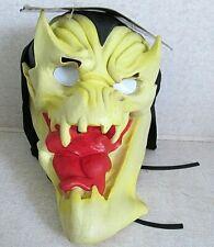 Adult Halloween Mask Hood, Hologram Eyes NOS original tag 1997 Paper Magic Group