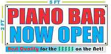 Piano Bar Now Open Banner Sign New 2x5