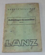 Teilekatalog Lanz Rollenlager Grasmäher LHR 45 von 01/1944