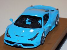 1/43 Looksmart Ferrari 458 Speciale in Baby Blue on a Leather Base Limited to 10