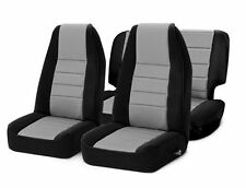 Jeep CJ Wrangler YJ Front and Rear Neoprene Seat Covers Gray 76-06 471022