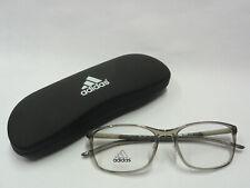 neues adidas Brillengestell Incl. Etui AF47 Farbe 6072 transparent / weiß