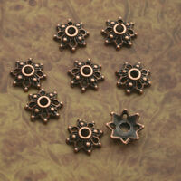100pcs antiqued copper flower bead cap findings X0214