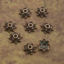100pcs antiqued copper flower bead cap findings X0214
