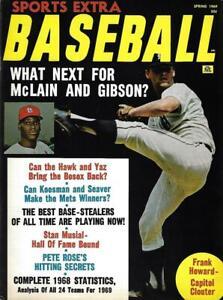 1969 Sports Extra Baseball Magazine, Bob Gibson, Denny McLain - Mint