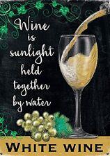 Vino Blanco Luz Del Sol portátil juntos by pequeño acero Letrero 200mm x 150mm (
