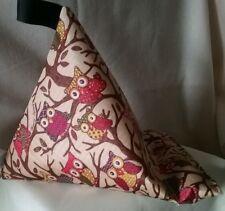 plastic coated fabric Tablet stand cushion kindle ipad cute owls christmas gift