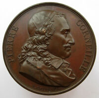 French Medal Pierre Corneille French Poet GALLERIE METALLIQUE Series 1816 41mm