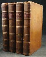 1779 GOLDSMITH, HISTORY of ENGLAND, ENGRAVINGS, 4 VOLUME SET, FULL CALF BINDINGS