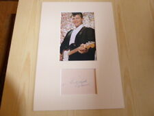 Ritchie Valens mounted photograph & autograph card