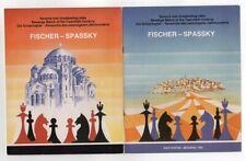 VERY RARE signed Fischer Spassky 1992 officiel livret book ,  échecs chess