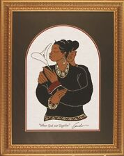 """African American Art """"WHAT GOD PUT TOGETHER"""" a Woven Tapestry by Andre Thompson"""