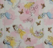 1/2 YARD Disney SKETCH Princesses 100% Cotton Fabric Belle Snow White Cinderella