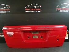 2005 SATURN ION COUPE Trunk Skin License Plate Finish Panel Chili Pepper Red 74U