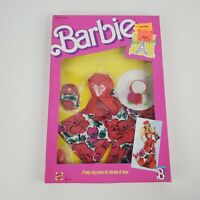 1988 Barbie Paris Pretty Fashions Outfit Dress New Vintage #1911