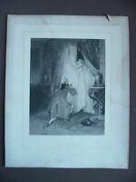 Antique Engraving (NM) Per Fragonard The Curtain Engraved Marckl Maurice Barbot