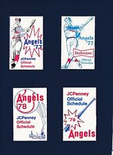 California Angels baseball schedules lot of 11-different 1977-1986