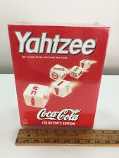 Yahtzee Christmas Coca Cola Board Game Dice Coke Xmas Car Travel Size Sealed NIB