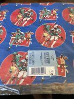Vintage Hallmark Gift Wrap Sports 2 Sheets Football Basketball Baseball
