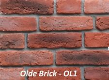 SAMPLE - Brick Slips, Brick Cladding, Brick Feature Wall, Stone Fireplace.