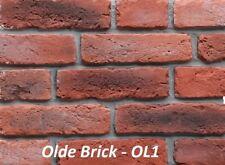 SAMPLE - Brick Slips, Brick Cladding, Brick Feature Wall, Stone Fireplace.