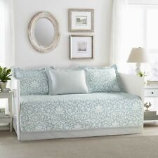 Laura Ashley Mia Twin 5 Pc Daybed Set ~ NEW Green White