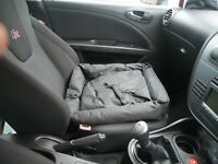 Black Water Resistant Pet Car Travel Cushion Bed Dog/Puppy Seat Mat/Protector
