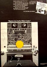WALTER WENDY CARLOS 1969 POSTER ADVERT THE WELL TEMPERED SYNTHESIZER
