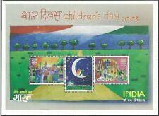 INDIA 2008 ART CHILDRENS DAY M/SHEET MNH