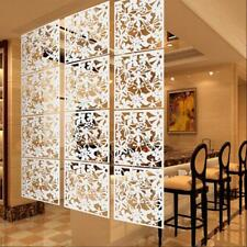 4Pcs Flower Wall Sticker Hanging Screen Balcony Room Divider Partition White