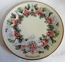 Lenox 1993 Colonial Christmas Wreath Plate ~ Georgia