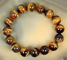 Natural 10mm African Tiger's Eye Gem Beads Bracelet