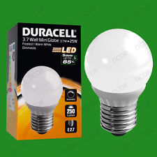 4x 3.7W Dimmable Duracell LED Pearl Mini Globe Instant On Light Bulb ES E27 Lamp