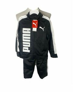 boys puma big logo black and white 2-pc. sweatsuit (sizes 4 or 5 available) NWT
