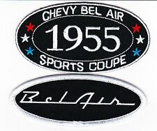 1955 CHEVY BEL AIR COMBO SEW/IRON ON PATCH BADGE EMBLEM EMBROIDERED