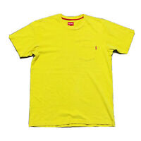 Supreme Pocket Tee (Men's Size M) Casual Crew Neck T-Shirt Yellow
