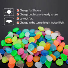 450 Pcs Mixed Color Pebble Stone Shine in The Dark For Walkway Yard Decorative