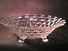 "Fostoria American Pattern #2056 Hand pressed Fruit Bowl w 3 feet 10 1/2"" - EUC"