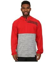 Adidas Standard One Anorak Jacket Men's Large Climalite Hooded 1/2 Zip NWOT Red