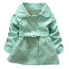 NWT Girls Coat Green Cotton Lace Kids Clothing Spring Autumn Jackets Size 2-5Y