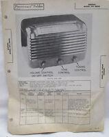 Vintage Sams Photofact Folder Sentinel Model 293 Series Radio Parts Manual