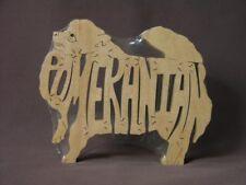 Pomeranian Dog Toy Wooden Puzzle Amish Made NEW