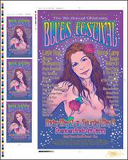 JONNY LANG SUSAN TEDESCHI Original Tulsa Blues Fest Signed Uncut Concert Poster