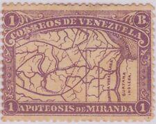(R8-32)1896 Venezuela50cRed &1bMauveMap Venezuelaow172-3