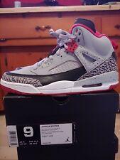 Jordan Spizike Wolf Grey Gym Red Black Size 9 DS