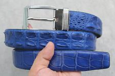 Light Blue Genuine Crocodile Leather SKIN MEN'S Belt - W 1.5 inch