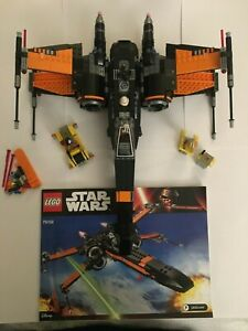 LEGO 75102 Star Wars Poe's X-wing Fighter 100% Complete w/ instructions & spares