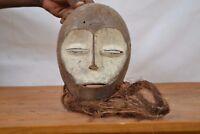 African tribal art,  Lega  Bearded Mask DR of Congo