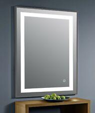 Darcy black framed bathroom led mirror 700x500
